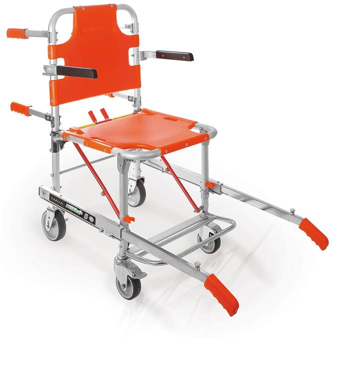 Sedia portantina per cardiopatici defibrillazione precoce for Sedia elettrica che sale le scale